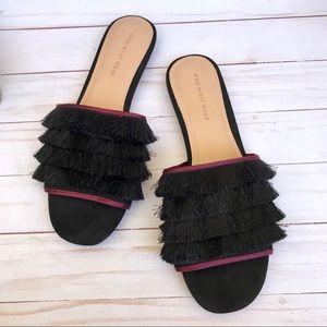 Shoes - ⬇️ $34 | Who What Wear Fringe Slip On Boho Flats.